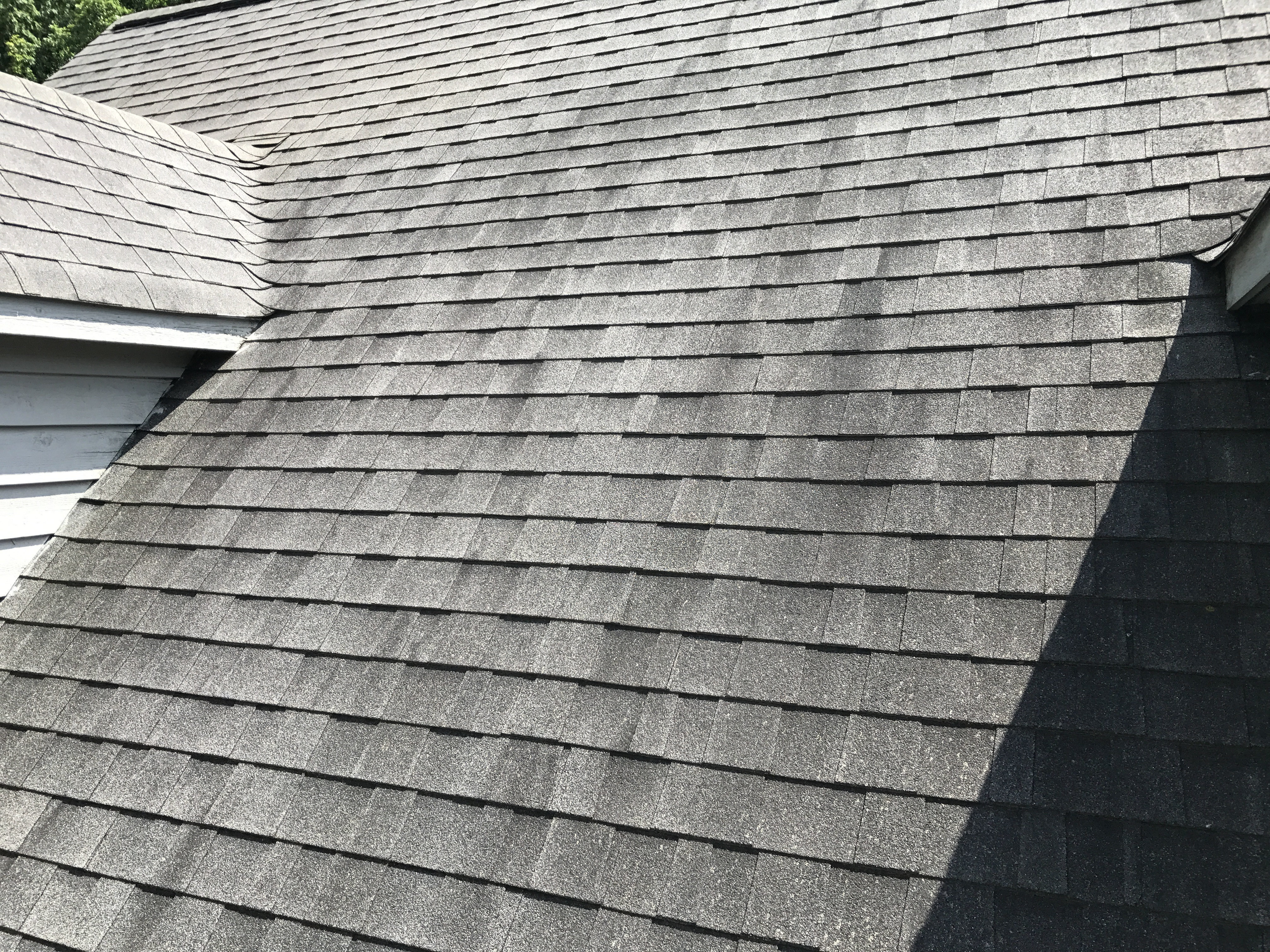 Roof with Black Streaks